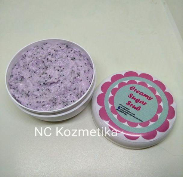 Creamy soap sugar scrub Borovnica & Mak