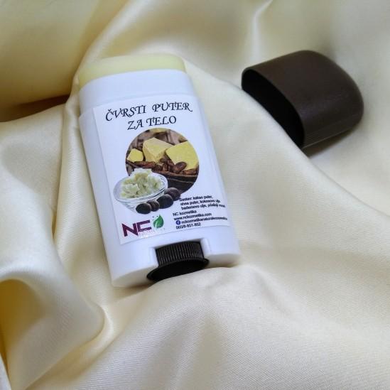 Čvrsti puter za telo Natural sa mirisom kakao butera